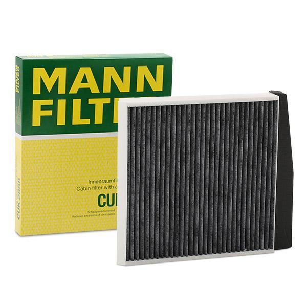 CUK 2855 MANN-FILTER Aktivkohlefilter Breite: 248mm, Höhe: 38mm, Länge: 278mm Filter, Innenraumluft CUK 2855 günstig kaufen