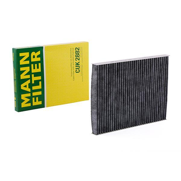 MANN-FILTER: Original Kabinenluftfilter CUK 2882 (Breite: 206mm, Höhe: 25mm, Länge: 281mm)