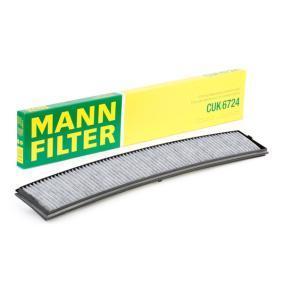 CUK 6724 MANN-FILTER Aktivkohlefilter Breite: 95mm, Höhe: 20mm, Länge: 660mm Filter, Innenraumluft CUK 6724 günstig kaufen