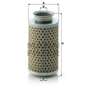 MANN-FILTER Filtro idraulico, Sterzo H 615 acquisti con uno sconto del 33%