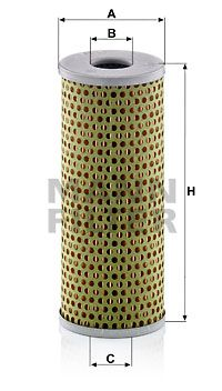 MANN-FILTER Filtr oleju do MERCEDES-BENZ - numer produktu: H 729
