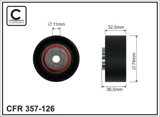 CAFFARO Medløberhjul, multi-V-rem til SCANIA - vare number: 357-126