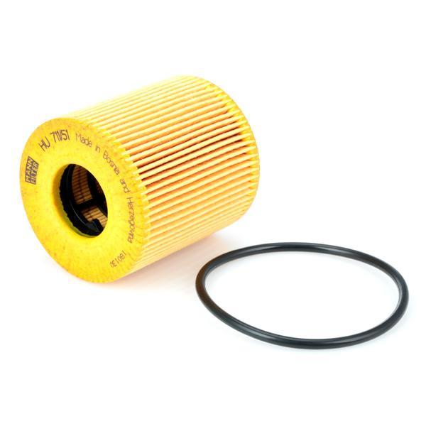 HU 711/51 x Alyvos filtras MANN-FILTER - Pigus kokybiški produktai