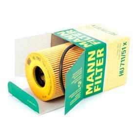 HU71151x Alyvos filtras MANN-FILTER HU 711/51 x Platus pasirinkimas — didelės nuolaidos