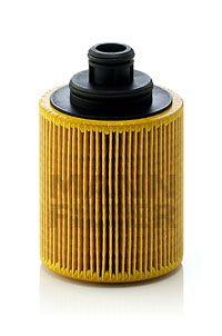 HU 712/7 x Alyvos filtras MANN-FILTER - Pigus kokybiški produktai