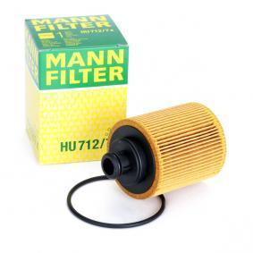 HU 712/7 x MANN-FILTER mit Dichtungen Ø: 65mm, Höhe: 100mm Ölfilter HU 712/7 x günstig kaufen