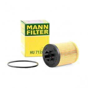 HU 712/8 x MANN-FILTER mit Dichtungen Innendurchmesser: 28mm, Innendurchmesser 2: 30mm, Ø: 59mm, Höhe: 87mm Ölfilter HU 712/8 x günstig kaufen