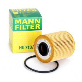 HU 713/1 x MANN-FILTER mit Dichtungen Innendurchmesser: 27mm, Ø: 65mm, Höhe: 83mm Ölfilter HU 713/1 x kaufen