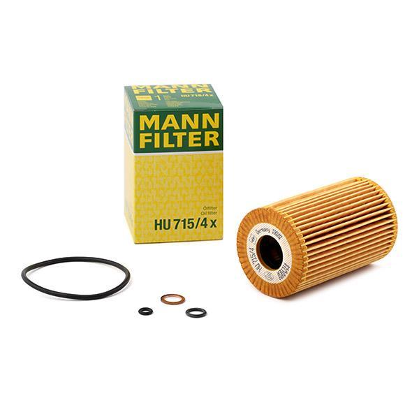 HU7154x Filtro Olio MANN-FILTER HU 715/4 x - Prezzo ridotto