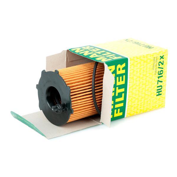 HU 716/2 x Wechselfilter MANN-FILTER - Markenprodukte billig