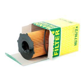 HU7162x Oljefilter MANN-FILTER HU 716/2 x Stor urvalssektion — enorma rabatter