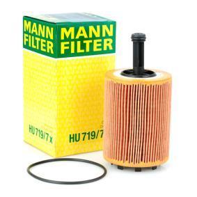 Pirkti HU 719/7 x MANN-FILTER su tarpikliais / sandarikliais vidinis skersmuo: 33mm, Ø: 71mm, aukštis: 141mm Alyvos filtras HU 719/7 x nebrangu