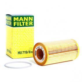 Pirkt HU 719/8 x MANN-FILTER ar blīvēm Iekšējais diametrs: 31mm, Ø: 64mm, Augstums: 125mm Eļļas filtrs HU 719/8 x lēti