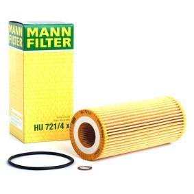 Pirkti HU 721/4 x MANN-FILTER su tarpikliais / sandarikliais vidinis skersmuo: 31mm, Ø: 64mm, aukštis: 153mm Alyvos filtras HU 721/4 x nebrangu
