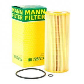 HU 726/2 x MANN-FILTER Met pakkingen Binnendiameter: 25mm, Ø: 64mm, Hoogte: 153mm Oliefilter HU 726/2 x
