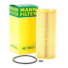 Osta HU 726/2 x MANN-FILTER koos tihenditega Siseläbimõõt: 25mm, Ų: 64mm, Kõrgus: 153mm Õlifilter HU 726/2 x madala hinnaga