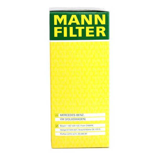 HU 727/1 x Õlifilter MANN-FILTER originaal kvaliteediga