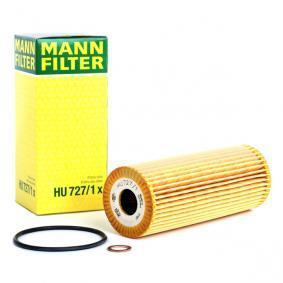 HU 727/1 x MANN-FILTER mit Dichtungen Innendurchmesser: 23mm, Ø: 62mm, Höhe: 159mm Ölfilter HU 727/1 x günstig kaufen
