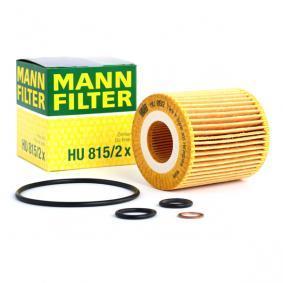 Pirkt HU 815/2 x MANN-FILTER ar blīvēm Iekšējais diametrs: 31mm, Ø: 72mm, Augstums: 79mm Eļļas filtrs HU 815/2 x lēti