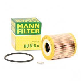 HU 818 x MANN-FILTER mit Dichtungen Innendurchmesser: 28mm, Ø: 68mm, Höhe: 79mm Ölfilter HU 818 x günstig kaufen