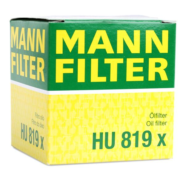 HU 819 x Oljefilter MANN-FILTER originalkvalite