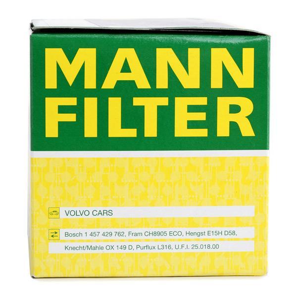HU 819 x Oljefilter MANN-FILTER Test