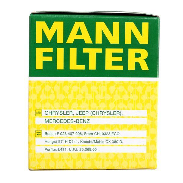 HU 821 x Oliefilter MANN-FILTER originele kwaliteit