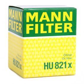 HU821x Alyvos filtras MANN-FILTER - Sumažintų kainų patirtis