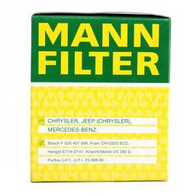HU 821 x Alyvos filtras MANN-FILTER originalios kokybiškos