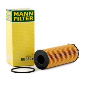 HU 831 x MANN-FILTER mit Dichtungen Innendurchmesser: 29mm, Ø: 72mm, Höhe: 200mm Ölfilter HU 831 x günstig kaufen