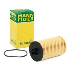 HU 931/5 x MANN-FILTER med packningar Innerdiameter: 28mm, Innerdiameter 2: 39mm, Ø: 80mm, H: 149mm Oljefilter HU 931/5 x köp lågt pris