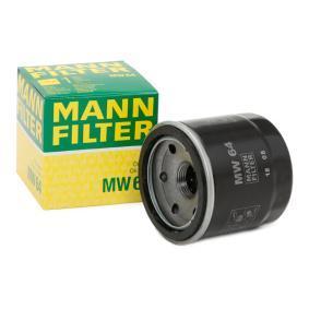Moto MANN-FILTER with one anti-return valve Inner Diameter 2: 55mm, Ø: 68mm, Outer diameter 2: 64mm, Height: 66mm Oil Filter MW 64 cheap