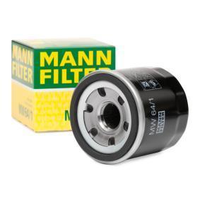 Comprar moto MANN-FILTER con válvula bloqueo de retorno Diám. int. 2: 54mm, Ø: 66mm, Diámetro exterior 2: 62mm, Altura: 65mm Filtro de aceite MW 64/1 a buen precio