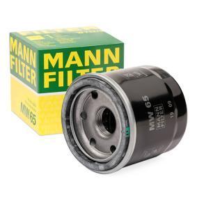 Vesz moto MANN-FILTER egy visszafolyó záró szeleppel Belső átmérő 2: 55mm, Ø: 68mm, Külső átmérő 2: 64mm, Magasság: 66mm Olajszűrő MW 65 alacsony áron