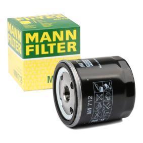 Pirkt moto MANN-FILTER Iekšējais diametrs 2: 62mm, Ø: 76mm, Ārējais diametrs 2: 71mm, Augstums: 79mm Eļļas filtrs MW 712 lēti