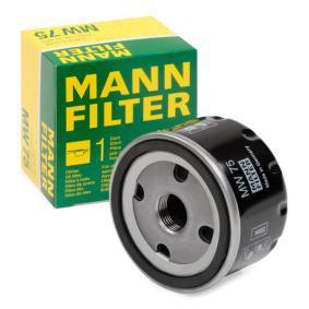 Achat de MW 75 MANN-FILTER Diamètre intérieur 2: 63mm, Ø: 76mm, Diamètre extérieur 2: 72mm, Hauteur: 53mm Filtre à huile MW 75 pas chères