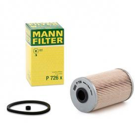 P 726 x MANN-FILTER mit Dichtungen Höhe: 124mm Kraftstofffilter P 726 x günstig kaufen
