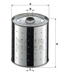 Origine Filtre à huile MANN-FILTER PF 1155 (Diamètre intérieur: 14mm, Diamètre intérieur 2: 14mm, Ø: 110mm, Hauteur: 125mm)