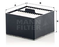 MANN-FILTER Kraftstofffilter für MAN - Artikelnummer: PU 910