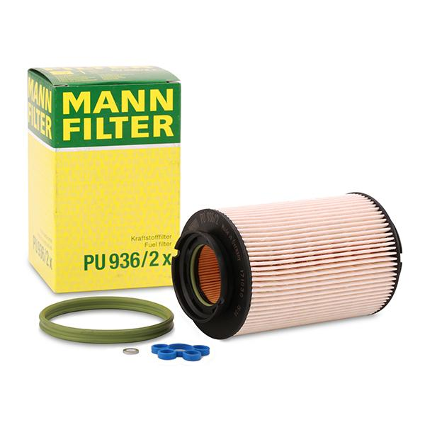 MANN-FILTER: Original Benzinfilter PU 936/2 x (Höhe: 142mm)