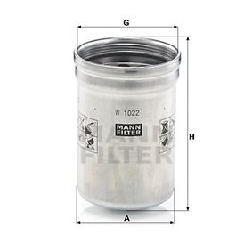 W 1022 Oliefilter