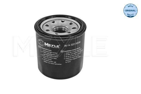 MOF0161 MEYLE Screw-on Filter, with one anti-return valve, ORIGINAL Quality Ø: 65mm, Ø: 65mm, Height: 70mm Oil Filter 36-14 322 0008 cheap