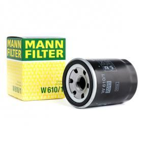 W 610/1 MANN-FILTER with one anti-return valve Inner Diameter 2: 54mm, Ø: 66mm, Outer diameter 2: 62mm, Height: 90mm Oil Filter W 610/1 cheap