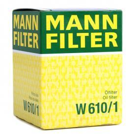 W 610/1 Oil Filter MANN-FILTER original quality