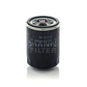 W 610/2 MANN-FILTER mit zwei Rücklaufsperrventilen Innendurchmesser 2: 54mm, Ø: 66mm, Außendurchmesser 2: 62mm, Höhe: 90mm Ölfilter W 610/2 günstig kaufen