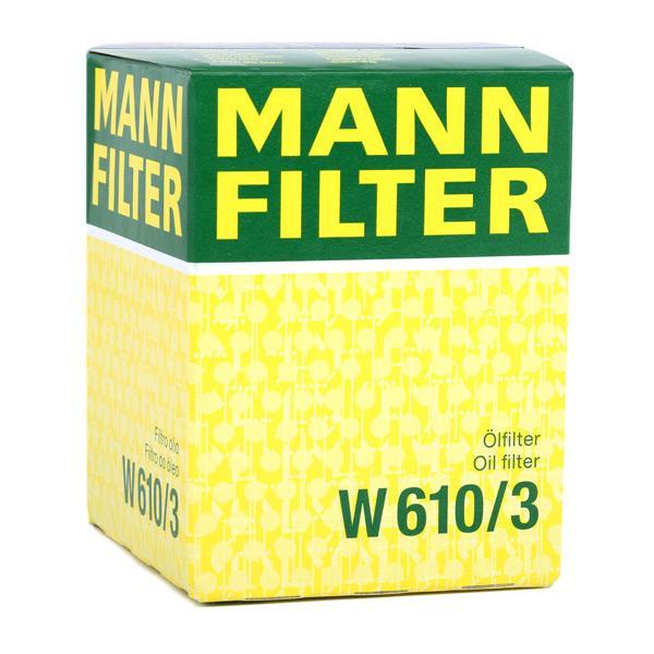 W 610/3 Motorölfilter MANN-FILTER in Original Qualität