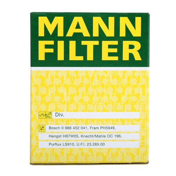 W 610/3 Oil Filter MANN-FILTER original quality