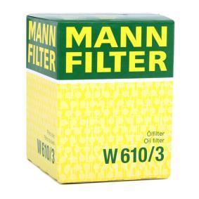 W610/3 Olajszűrő MANN-FILTER - Tapasztalja meg engedményes árainkat