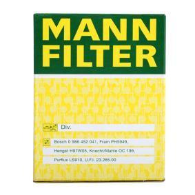 W 610/3 Olajszűrő MANN-FILTER eredeti minőségű