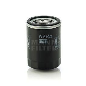 W 610/3 Olajszűrő MANN-FILTER Test